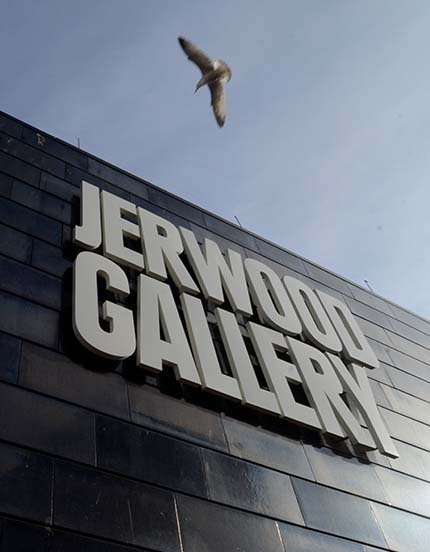 Jerwood Gallery and seagull